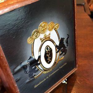 Bags - Cigar Leopard Wood Black Beaded Onyx Purse Bag!